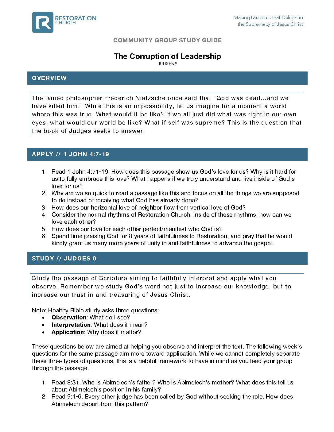 Leadership Bible Pdf